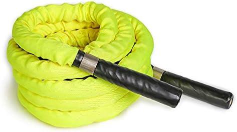 HAHA バトルロープバトルロープ、直径1インチ/1.5インチ/ 25mm / 38mmトレーニングロープ、長さ10 / 15m、ファイティングロープ/アームストレングスロープ、フィジカルトレーニング機器(Size:1.5 inches x15m)