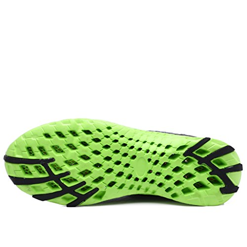 KRIMUS Damen Herren Wasser Schuhe Leichte Quick Dry Aqua Wanderschuhe Dunkelgrau