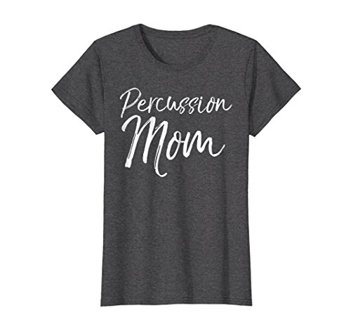 Womens Percussion Mom Shirt Proud High School Marching Band Mother XL Dark Heather