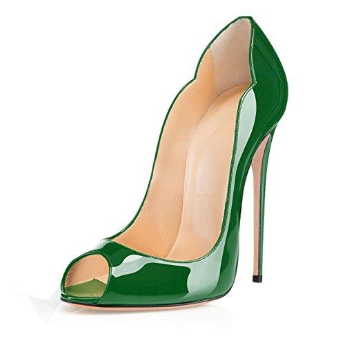 Zapatos Verde Mujer con Soireelady tacón dvwgKqZ