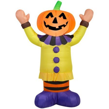 Gemmy Airblown Inflatable 3.5' X 2.5' Pumpkin Clown Halloween Decoration, Model: 72232 (Medusa Sexy Costume)