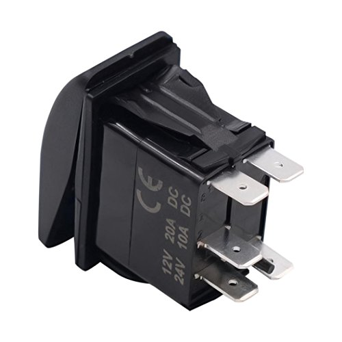 12V 20A Anti-retardant Car Tray Light Switch - 6