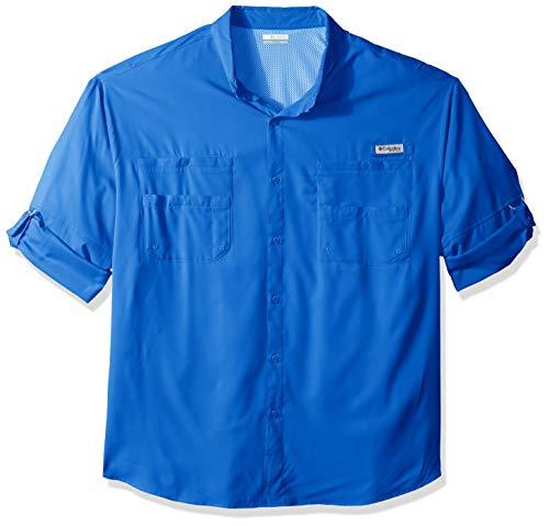 (Columbia Men's PFG Tamiami II Long Sleeve Shirt — Big , Vivid Blue, XX-Large)