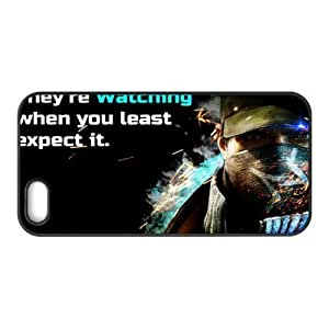 Game DIY-1 Watch Dogs Print Black Case With Hard Shell Cover for Apple iPhone 5S 8671332M77314185