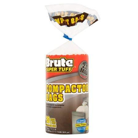 Brute Super Tough Compactor Bags 2.0 Mil - 20 Count