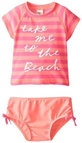 Osh Kosh Baby Girls' Beach Rashguard Set