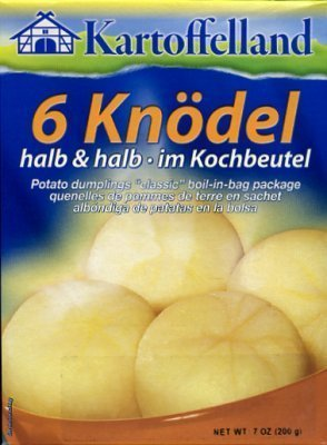 6 Knodel halb & halb - 6 Potato Dumplings - 7 oz / 200 g - Prod...