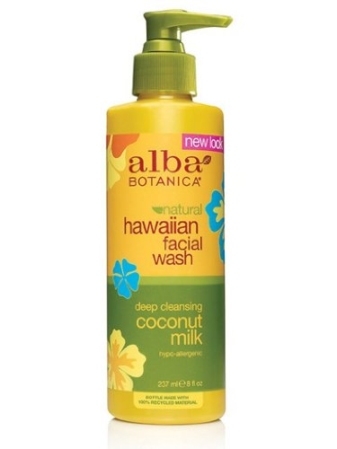 Alba Botanica Coconut Milk Facial Wash, 8-Ounce Bottle (Pack of 2)