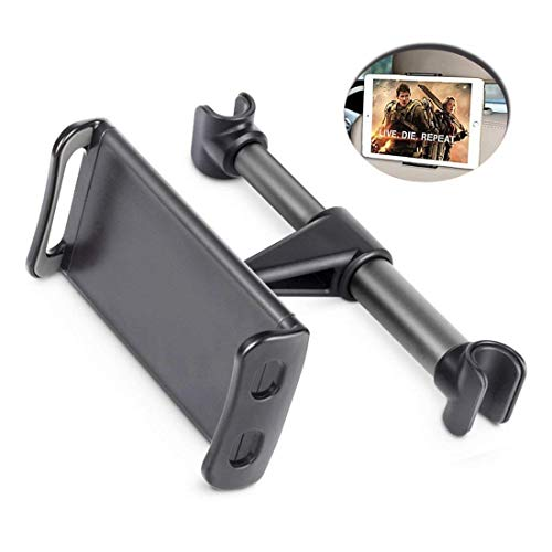 Peipai Compatible Car Headrest iPad Holder Replacement for Phone & Tablet Car Mount Holder 360 Degree and Multi-Angle Rotation Headrest Stand for 4.7-10 inch Tablet and Phone