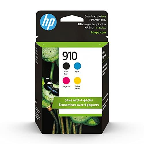 HP 910 | 4 cartuchos de tinta | Negro, cian, magenta, amarillo | Funciona con HP OfficeJet 8000 Series | 3YL61AN, 3YL58AN, 3YL59AN, 3YL60AN