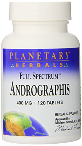 Planetary Herbals Full Spectrum Andrographis, 400 mg, Tablets , 120 tablets (Pack of 2)