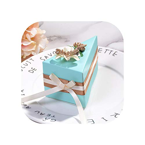 1Pcs Wedding Candy Box Pink Cake-Shaped Personality Creative Box Flower Packaging Wedding Thanking Gifts 10X6X5.5Cm,Blue1,10 X 6 X 5.5Cm ()