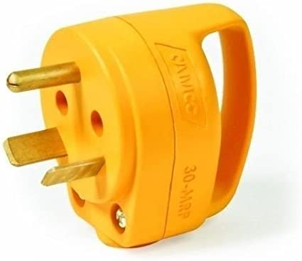 30 AMP Power Cord Plug Electric Male Connector RV Camper Travel Trailer Mini