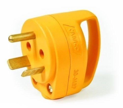 Power Cord Plug 30 AMP Electric Male Connector RV Camper Travel Trailer Mini NEW