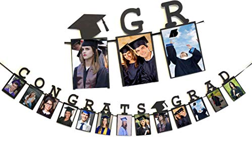 Congrats Grad Photo Banner Garland 2019 Graduation Party Photo Banners Graduation Photo Garland Decorations]()