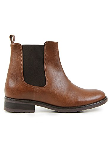 Will's Vegan Shoes Chelsea Boots Chestnut