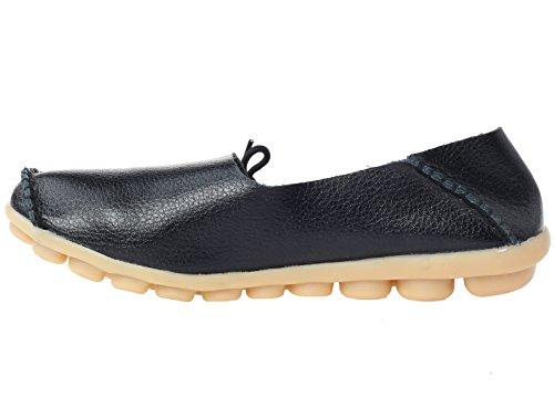 Vogstyle - Zapatillas de estar por casa para mujer Negro negro F6klPSVL