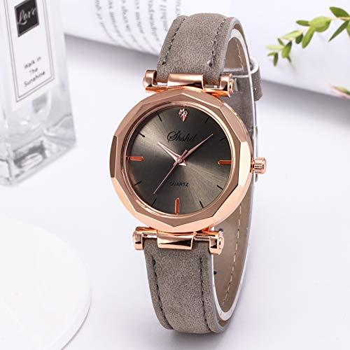 Women Watch Sale Clearance Vintage Matte Faux Leather Rhombus Rhinestones Quartz Soft Wrist Watch by Gaweb (Image #4)