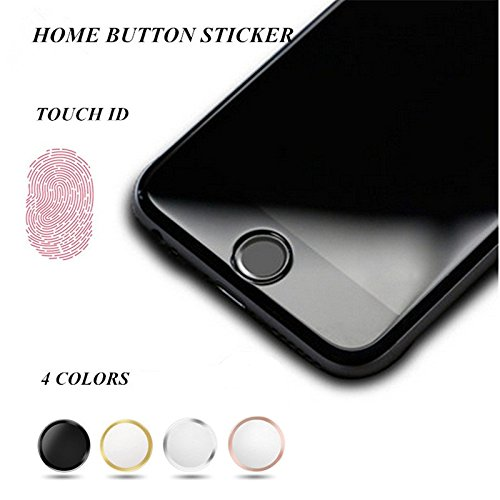 OWIKAR 4 Packs Home Button Sticker-Touch ID Button (Support Fingerprint Indentification System...