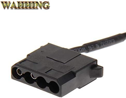 Computer Cables 2pcs//5pcs USB to 4 Pin Molex Fan Power Cable Computer Case Adapter Cord 12V 4Pin Female to 5V USB Male USB Adapter Cable HY1582 Cable Length: 0.3m, Color: 2pcs