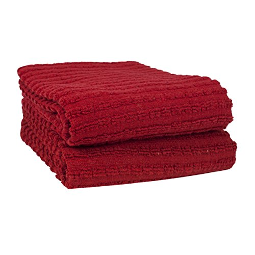 Ritz Royale Collection 100% Combed Terry Cotton, Highly Absorbent, Oversized, Kitchen Towel Set, 28'' x 18'', 2-Pack, Solid Paprika Red by Ritz (Image #3)