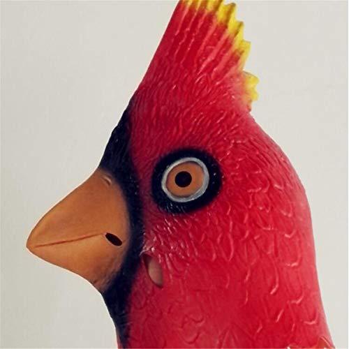 Halloween Costume Cosplay Masks Latex Animal Full Head Masks (Angry Bird) Latex Bird Flamingo Mask -