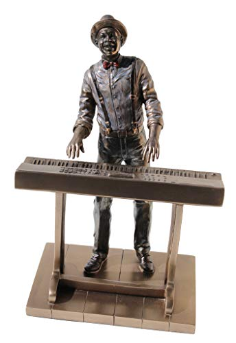 (VERONESE Jazz Band Collection, Keyboardist Player, Musician Organists Statue Figurine Sculpture Cold Cast)