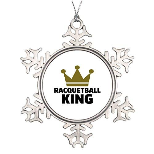 (OneMtoss Christmas Snowflake Ornament Personalised Christmas Tree Decoration Crown Racquetball King Special Christmas Snowflake)