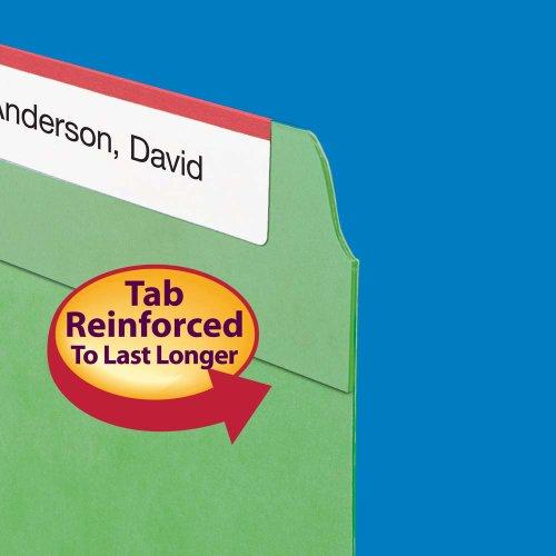 Smead File Folder, Reinforced Straight-Cut Tab, Letter Size, Green, 100 per Box (12110) Photo #4
