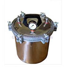 18L Liter Portable Autoclave Steam Sterilizer for Medical Dental Tattoo Professionals Free Ship via DHL