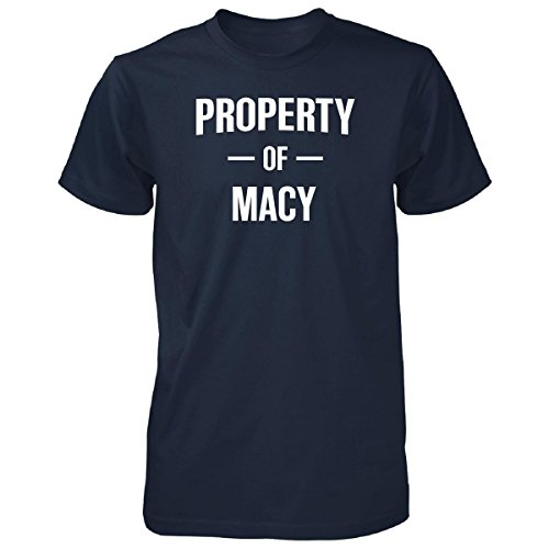 Inked Creatively Property Of Macy Gift For him - Unisex Tshirt Navy - Gifts Him For Macy's