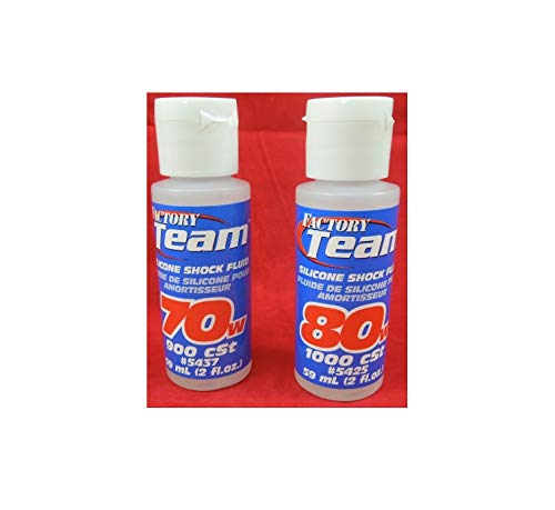 Team Racing 70+80 Weight Silicone Shock Oil Fluid 05437 05425 traxaz RC10 Quick Arrive