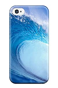 Tpu Case Skin Protector For Iphone 4/4s Water Wave Sea Nature Pictures With Nice Appearance 7514897K78115581