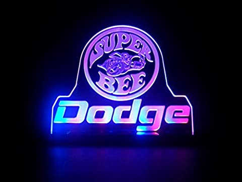 Dodge Super BeeLogo LED Desk Lamp Night Light Man Cave Room Signs (Dodge Night Runner)