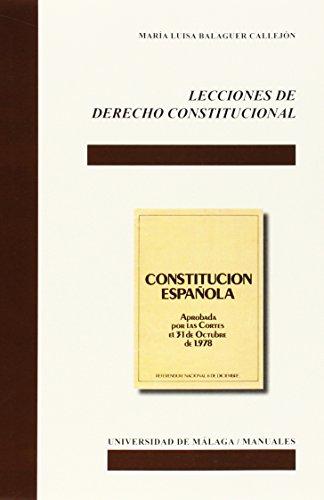 Lecciones de Derecho Constitucional (Manuales) por Balaguer Callejón, María Luisa
