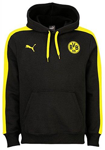Puma BVB T7 Hoody Jacket sweatshirt Men yellow or black dortmund 09, Farben:noir;konfektionsgröße:XL