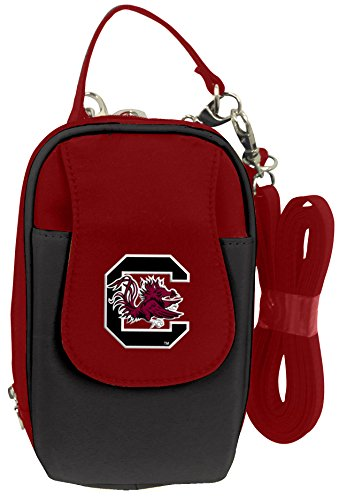 (Charm14 NCAA South Carolina Fighting Gamecocks Crossbody Cell Phone Purse XL -Fits All Phones)