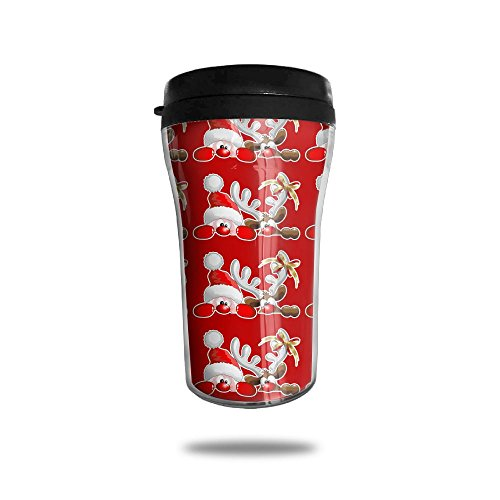 Stainlee Steel Christmas Peek A Boo 250mL Coffee Cup Travel Mug Insulated Tumblers
