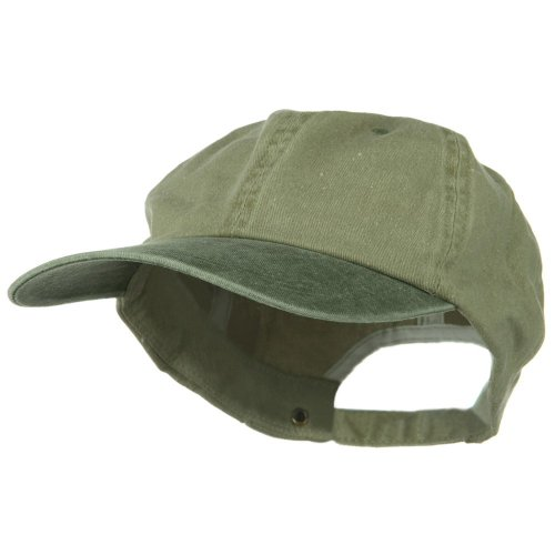 Big Bill Khaki (New Big Size Washed Cotton Ball Cap - Khaki Olive (For Big Head))