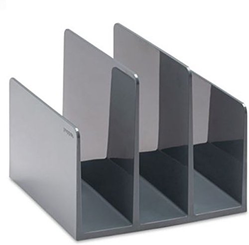 (Poppin Fin File Sorter Desk Organizer 6.5 x 6.75 x 5.5 in Dark Gray/Charcoal)