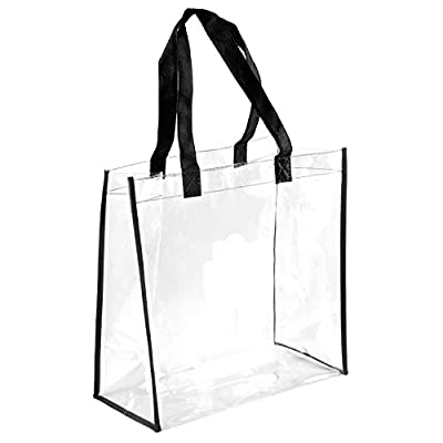 NFL Stadium Approved Clear Tote PGA Compliant See Through Tote Transparent Bag 85%OFF