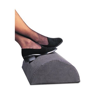 Half-Cylinder Padded Foot Cushion, 17-1/2w X 11-1/2d X 6-1/4h, Black (Safco Half Cylinder Padded Foot)