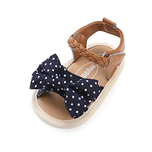 Baby Girl Sandals - Soft Sole Infant Girl Summer Crib Shoes Princess Dress Flats