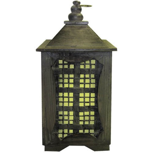 Garden Meadow R1209LW Solar Temple Lantern with White Light, ()