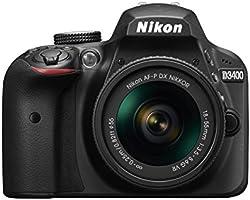 Nikon VBK490SU Cámara Reflex D3400 de 24.2Mp con Lente W/AF-P DX 18-55 VR, color Negro
