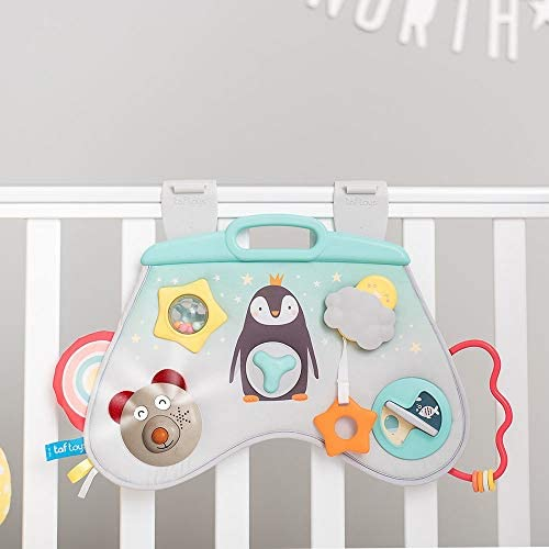 Taf Toys Music & Light Laptoy Activity Center for Babies. Baby's Activity & Entertaining Center, for Easier Development and Easier Parenting, Soft Colors to Keep Baby Calm, Lights, Music & Activitis