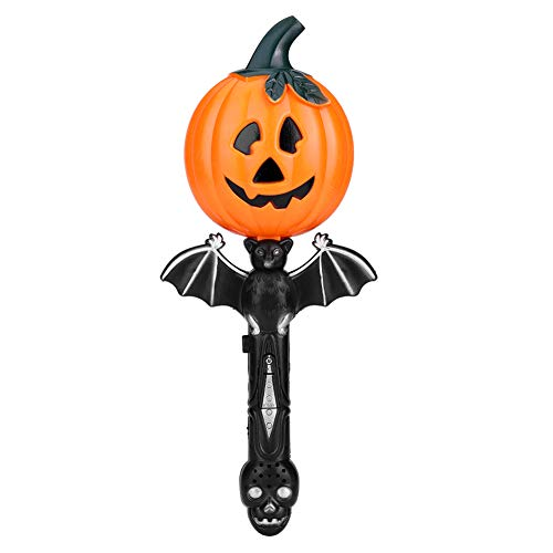 Fdit Halloween Trick Pumpkin Flashlight Treat Safety Scary Sound Party Supplies Trick Toy Prop Bucket Light Up Kids]()