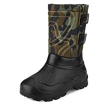 Mens Waterproof Protective Rain Boot Winter Snow Warm Boots Lightweight Outdoor Shoes