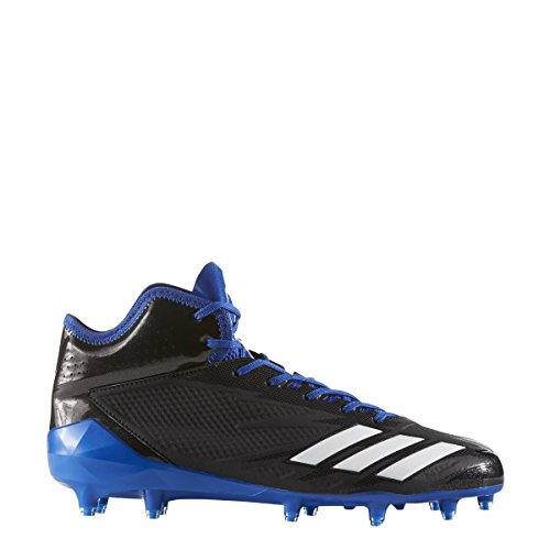 adidas Adizero 5-Star 6.0 Mid Cleat - Men's Football 11 Core Black/White/Collegiate Royal