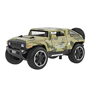 Kids Die-cast Metal Playset Toy Vehicle Models, Cool HX Concept Fire Rescue Police Car Truck with Light & Sound 1:32 Scaled, Best Christmas Birthday Gift Toys for Children Kids Toddlers Boys
